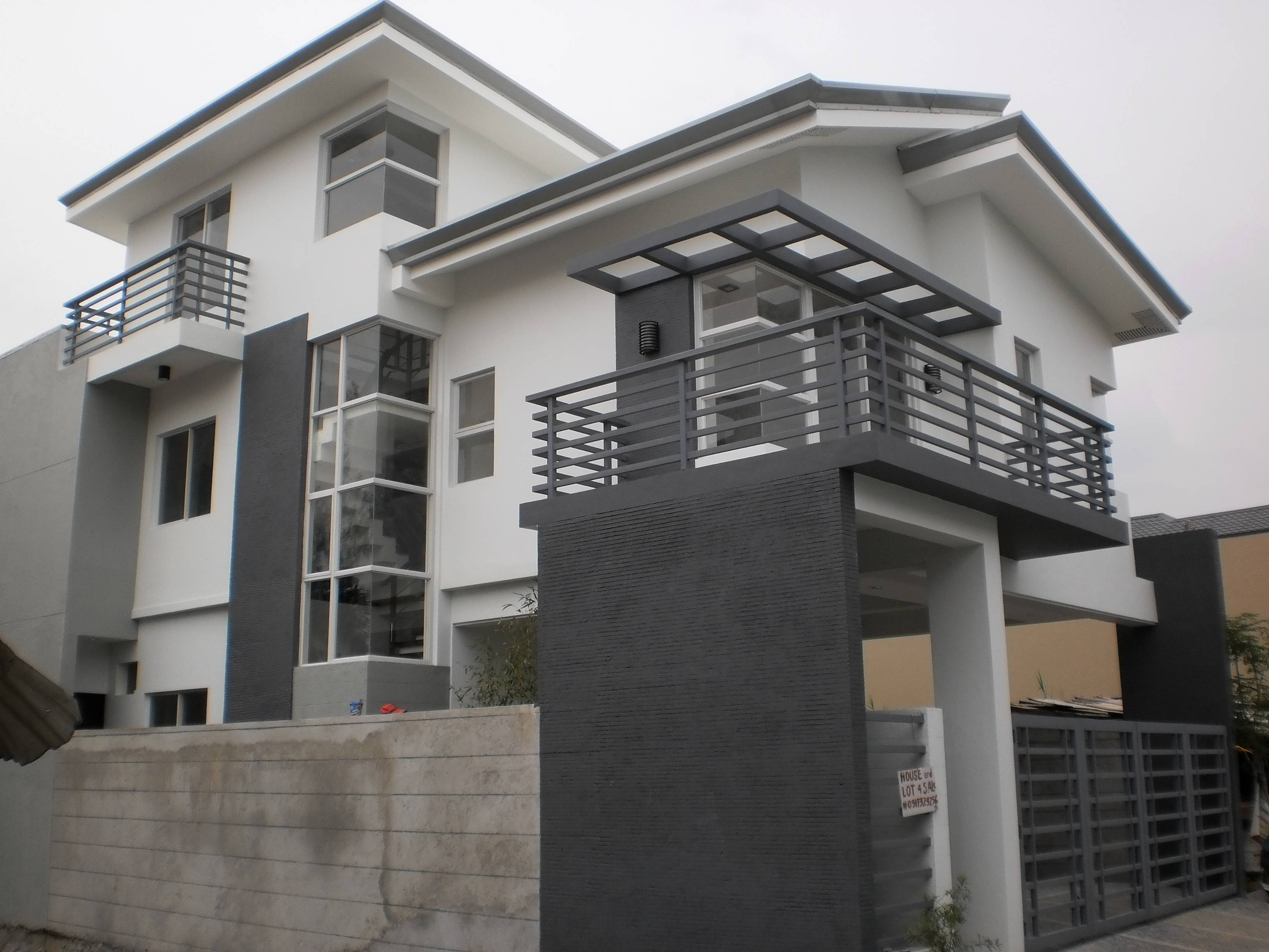 Modern contemporary house in greenwoods pasig city for Modern contemporary house plans for sale